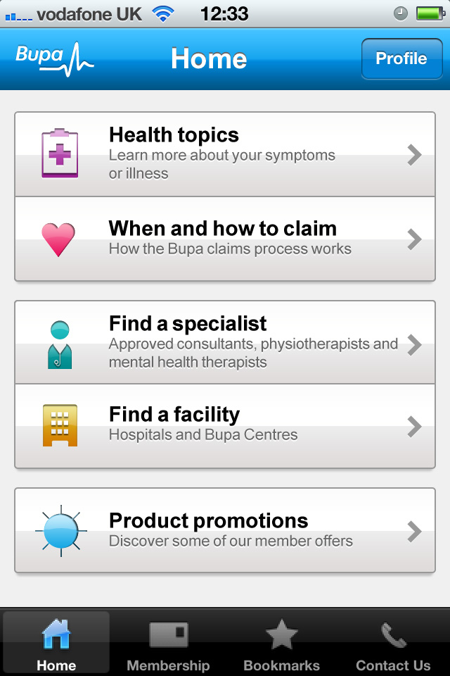 BUPA's iPhone health finder app provides free health advice on the go