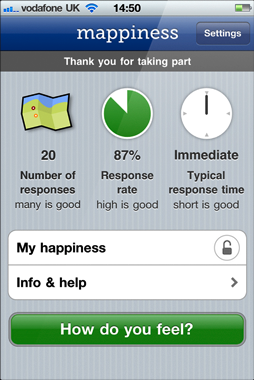 How happy are you? Apps Mappiness and MoodPanda can tell you