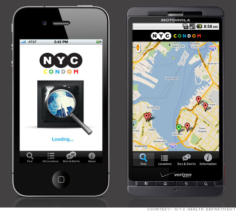 NYC and Kent both have one. Where's the London condom finder app?