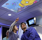 Doctors use iPads to create calm and colourful hospital environment