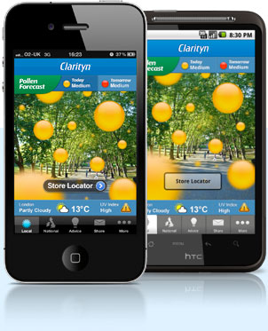 Do you suffer from hay fever? Keep track on the pollen count with the Pollen Forecast app by Clarityn