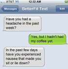 BetterFit Text is a super simple health texting service