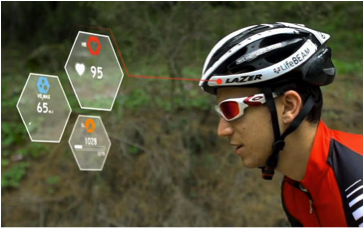New SMART Helmet from LifeBeam, offering cyclists the opportunity to monitor their health during route