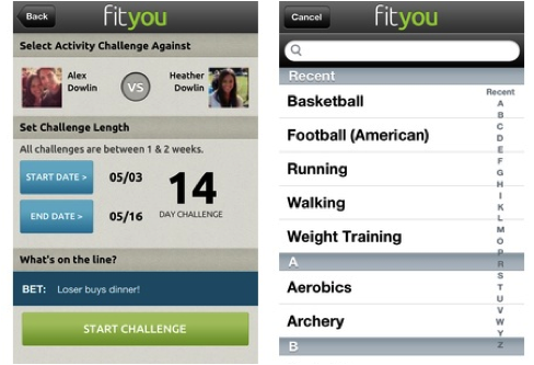 Challenge your friends with FitYou